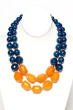 The Butterscotch Bauble Necklace is now back in stock!