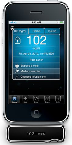 Sanofi-Aventis demonstrated a blood-glucose meter for diabetics which plugs in directly to the iPhone.