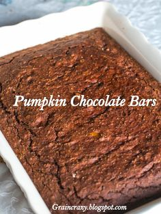 Grain Crazy: Pumpkin Chocolate Bars