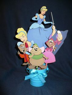 Cinderella Centerpiece Disney Princess Birthday or by CSCuteCrafts, $25.00