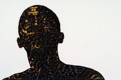 Where some may see flat, static narratives, I see a spectrum of tonal gradations and realities  Works and title by Toyin Odutola