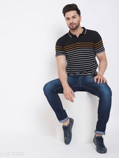 Tshirts Designer  Cotton Blend Tshirts Fabric: Cotton Blend Sleeve Length: Short Sleeves Pattern: Striped Multipack: 1 Sizes: S (Chest Size: 38 in Length Size: 27 in)  XL (Chest Size: 44 in Length Size: 28.5 in)  L (Chest Size: 42 in Length Size: 28 in)  M (Chest Size: 40 in Length Size: 27.5 in)  XXL (Chest Size: 46 in Length Size: 29 in)  XXXL (Chest Size: 48 in Length Size: 29.5 in) Country of Origin: India Sizes Available: S, M, L, XL, XXL, XXXL   Catalog Rating: ★4.1 (476)  Catalog Name: Pretty Partywear Men Tshirts CatalogID_876906 C70-SC1205 Code: 713-5818428-927