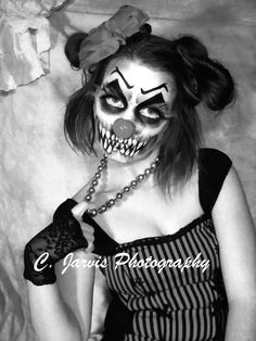Clown makeup - Photography and makeup done by C. Jarvis Designs
