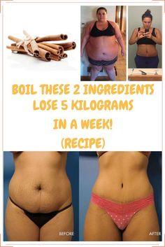 Boil These 2 Ingredients Lose 5 Kilograms in a Week!