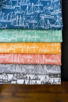 nautical fabric - I made my sons duvet cover with the blue!  It is great fabric, heavy.