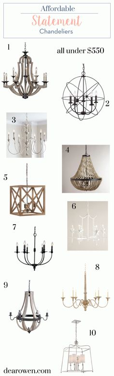 Affordable Statement Chandeliers | Dear Owen | Bloglovin'