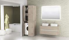 Kast wasmachine en droger Novellini space | wasruimte inspiratie ...