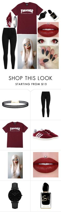 """""""Alicia: December 26, 2016"""" by disneyfreaks39 ❤ liked on Polyvore featuring LULUS, Levi's, adidas, CLUSE and Giorgio Armani"""