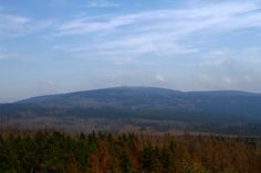View from the summit of the Achtermannshöhe towards the Brocken