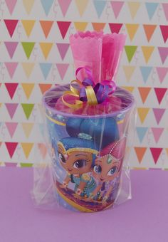 Shimmer and Shine Birthday Party Favor Cups Pre-filled Goodie Bags