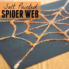 Toddler Approved!: Salt Painted Spider Web