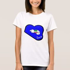 Sharnia's Lips Iran T-Shirt (Blue Lips). Available in different styles & colours!