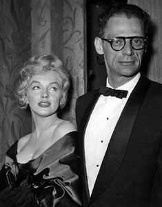 Marilyn with Arthur Miller at the London premiere of A View From A View From A Bridge, 1956.