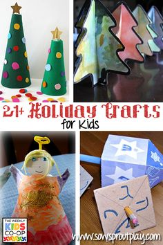 21+ Holiday Crafts for Kids from the Weekly Kids Co-Op!