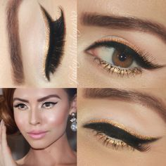 Winged liner holiday makeup