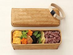 Weaved Bamboo Bento Long by Yamaki - Bento&con the Bento Boxes specialist from Kyoto Food Box Packaging, Food Packaging Design, Bento Box, Lunch Box, Gourmet Recipes, Healthy Recipes, Bamboo Box, Healthy Food Delivery, No Plastic