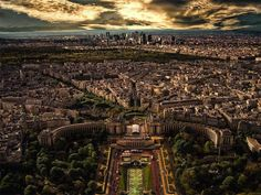 Paris, France; As seen from the Eiffel Tower.