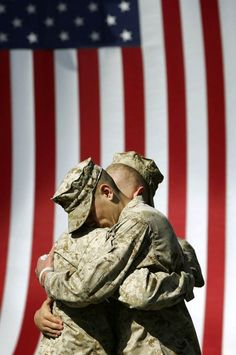 Sometimes it's all a vet needs. Support our Military and our Vets!  I don't think there's anything else to say!  We owe our freedom to the wonderful people.  Even if they don't serve in combat they are heroes!