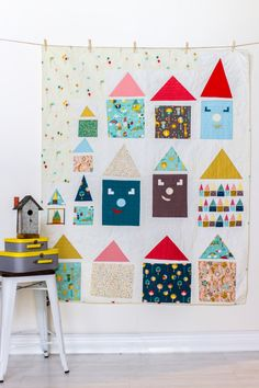 My improv pattern for the houses quilt is now available! You can find it on Birch Fabric's website. As you may recall from my earlier post, this quilt was made in collaboration with Birch Fabrics for their Spring 2015 Quilt…