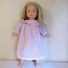 Habit de poupée : chemise de nuit romantique pour poupée gotz, précious day 46 cm