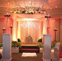 Chuppah with hanging candles