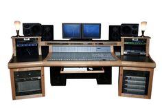 A custom Recording Studio Desk that looks like it has everything I need