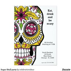 Sold #SugarSkull party Card #halloween Available in different products. Check more at www.zazzle.com/celebrationideas