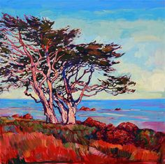 Monterey Diptych - Modern Impressionism | Contemporary Landscape Oil Paintings for Sale by Erin Hanson