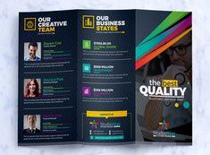 Tri-Fold Brochure Design Template : Square and Tall Version Corporate Identity Template Creative Brochure, Brochure Design, Creative Business, Corporate Fonts, Corporate Identity, Layout Template, Brochure Template, Free Design, Ad Design