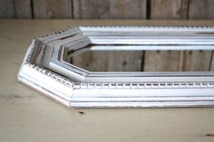 White Distressed Shabby Chic Long Octagon Mirror by ShabbyChicLife, $28.00