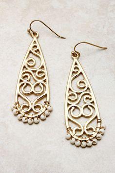 Boho Filigree Earrings   Emma Stine Jewelry Earrings >> These are so pretty!