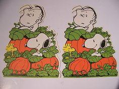 vintage 1960s peanuts charlie brown great pumpkin patch halloween decorations ebay - Halloween Decorations Ebay