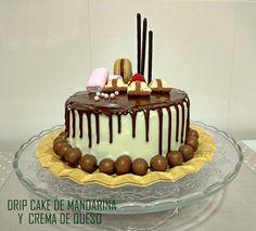 Marilú Entre Pucheros: DRIP CAKE DE MANDARINA Y CREMA DE QUESO