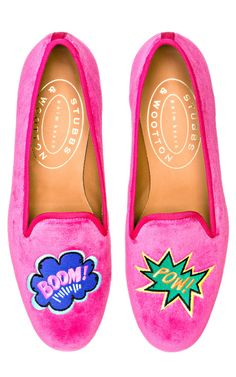 Tendance Chaussures 2018 Description Stubbs & Wootton Kaboom Fuchsia Loafer by Stubbs & Wootton for Preorder on Moda Operandi Dream Shoes, Crazy Shoes, Me Too Shoes, Christian Louboutin, Jack Rogers Sandals, Velvet Slippers, Shops, Peep Toe Pumps, Sock Shoes