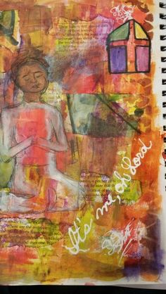 Art Journal page. Experimenting with conscious expression of thought and feeling. Sort of a guided intuitive exercise. That's how I made sense of it anyway.