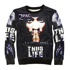 CHIC Women Men Hip Hop 2PAC Hoodies Pullover Sweatshirt 3D Clothing T Shirt  at Amazon Women s Clothing store  df85d9a93