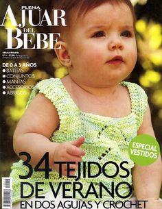 Plena Ajuar del Bebé Nº 16 - Melina Tejidos - Picasa Webalbums Crochet Lace Edging, Crochet Bebe, Baby Girl Crochet, Crochet Cross, Newborn Crochet, Knitting Books, Knitting For Kids, Baby Knitting Patterns, Baby Patterns