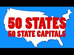 Learn the 50 US State Capitals and 50 State Abbreviations States Song) 4th Grade Social Studies, Social Studies Activities, Teaching Social Studies, Teaching Geography, Study History, School Fun, School Stuff, School Days, School Videos