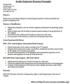 For more and various engineer resumes visit: www.resume-examples.org/engineer-resumes.html     Find great tips for writing resumes and cover letters.  #resume, #cover letter, #writing tips,  #best resume,