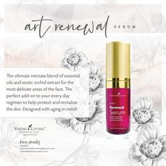 ART Renewal Serum is formulated with premium ingredients that deeply nourish, hydrate, & help maintain a youthful appearance. Essential Oils For Skin, Rose Essential Oil, Young Living Essential Oils, Houses Architecture, Serum For Dry Skin, Savvy Minerals, Organic Living, Young Living Oils, Organic Beauty