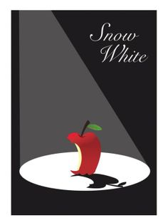 Snow White and the Seven Dwarfs (1937) ~ Minimal Movie Poster by David Peacock. Film