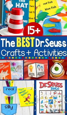 You will have so much fun celebrating Dr. Seuss Day with these fun and adorable Dr. Activities, Crafts, and Printables for Kids. Activities include Cat in the Hat, Horton Hears a Who, Green Eggs and Ham, Red Fish Blue Fish, and more.