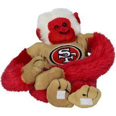 San Francisco 49ers Team Baby Monkey Plush