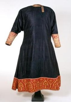 """Tunicella, before 1246, Kunsthistorisches Museum This was made in Palermo , but its date of creation is unknown.   it was mentioned in documents twice: once in 1350 where it was called """"a blue gown"""", and once in 1246 where it was called a """"gown of samite""""."""