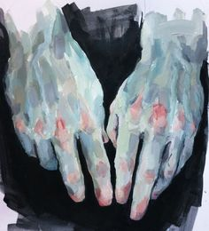Available for sale from GALERIE BENJAMIN ECK, Elly Smallwood, Hand study in Blue, Acrylic, 28 × 23 cm  artsy