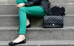 love the green with the chanel