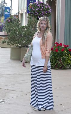 Cute DYI maternity maxi skirt