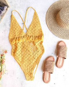 Somedays Lovin Mystifying Crochet One Piece Swimsuit - swimsuit style Motif Bikini Crochet, Crochet Fabric, Crochet Top, Crochet Shorts, Crochet One Piece, Cardigan Bebe, Swimsuit Pattern, Haut Bikini, Swimsuits