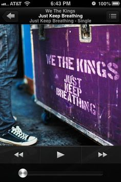 This is We The Kings, new song, Just Keep Breathing. It just came out a few days ago, and is #5 on The United States Charts. Please, show some love and buy it on iTunes! <3 Like and Follow if Shaytards, BFvsGF, CTFxC, or your friends brought you to hear this song if you already have it. Love You Charles, Danny, Travis, Coley, and Hunter! <3 Show Some Love And Support. It's SO catchy!