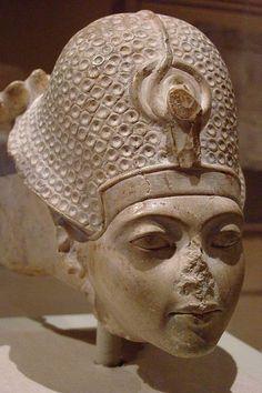 Head of Tutankhamun Dynasty 18 1336-1327 BCE Limestone